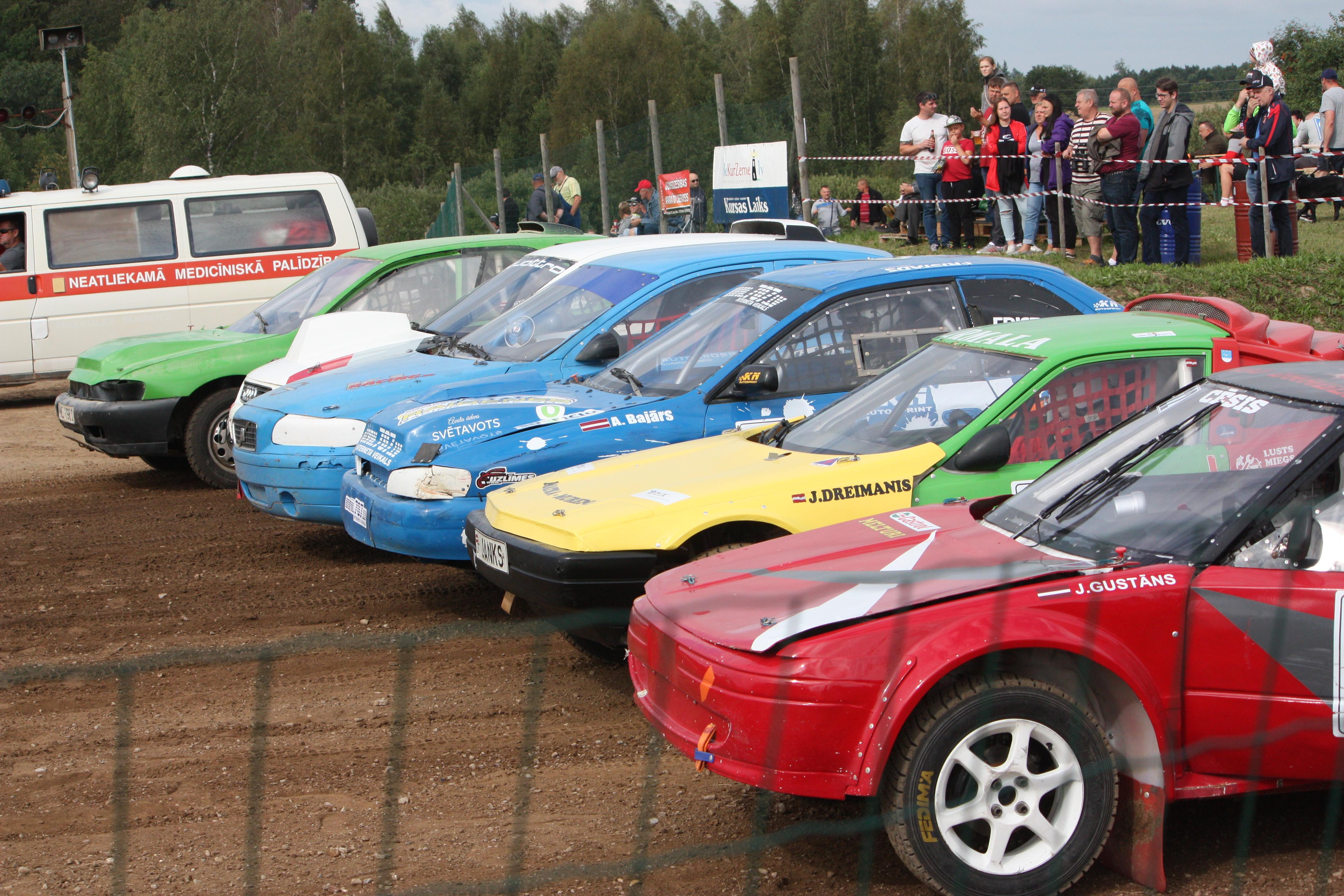 Autokross: Nākamajam Latvijas čempionāta posmam sastāvs noskaidrots